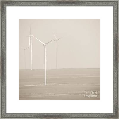 Windmills Framed Print by Gabriela Insuratelu