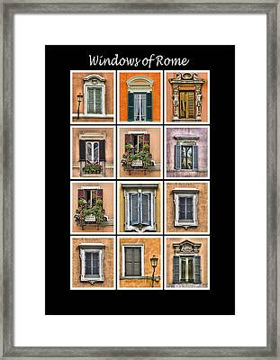 Windows Of Rome Framed Print