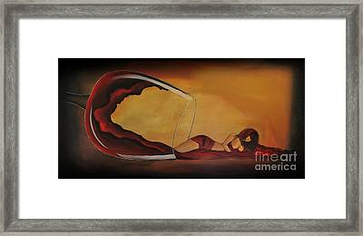 Wine-spilled Woman Framed Print