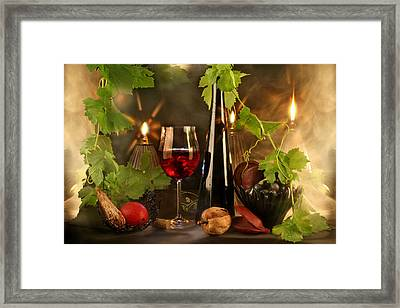 Wine Spirits Framed Print by Manfred Lutzius