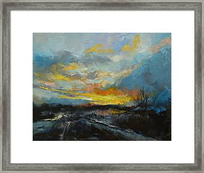 Winter Evening Framed Print by Michael Creese