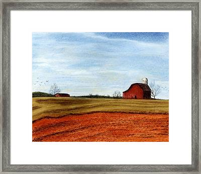 Winter Fields Framed Print by Jan Amiss