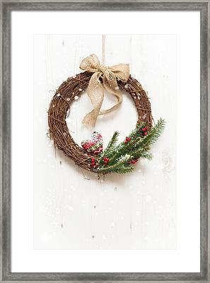 Winter Garland Framed Print by Amanda Elwell
