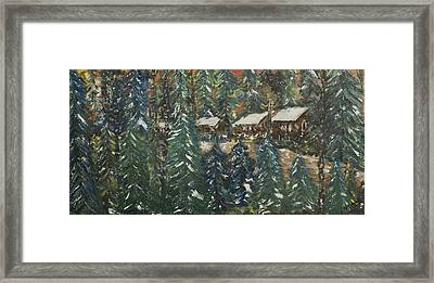 Winter Has Come To Door County. Framed Print