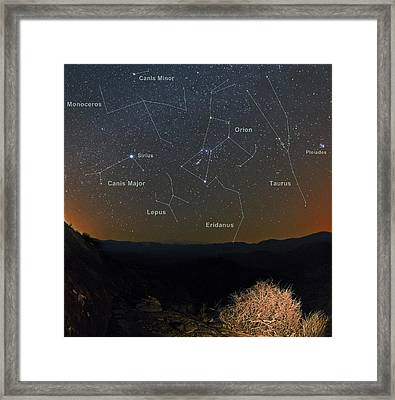 Winter Night Sky Framed Print by Babak Tafreshi