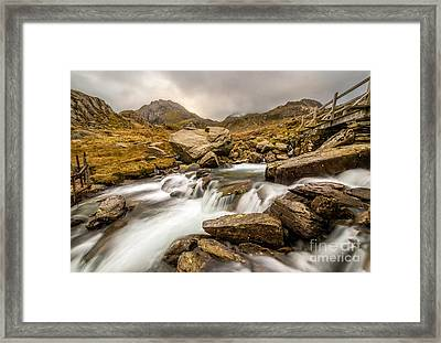 Winter Stream Framed Print by Adrian Evans