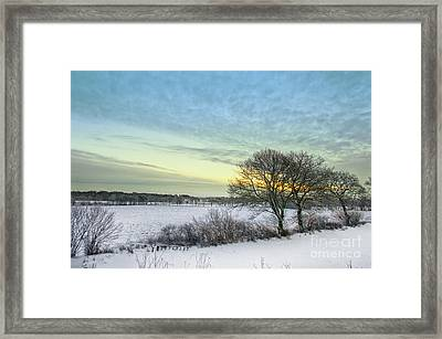 Winter Sunrise Framed Print