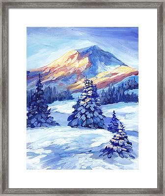 Winter Sunset  Framed Print by Peggy Wilson