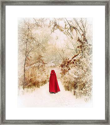 Winter Walk Framed Print by Jessica Jenney