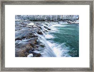 Winter Waterfall Framed Print by Thomas R Fletcher
