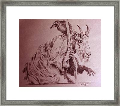 Wise Old Goat Framed Print