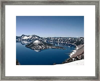 Wizard Island  Framed Print