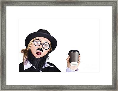 Woman With Cup Of Coffee Framed Print by Jorgo Photography - Wall Art Gallery