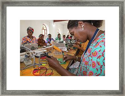 Women On A Solar Workshop Framed Print by Ashley Cooper