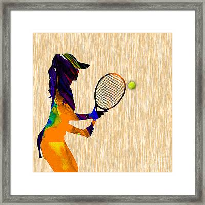Womens Tennis Framed Print