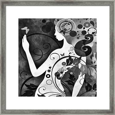Wonder Bw Framed Print by Angelina Vick