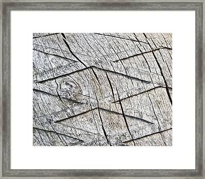 Wood Carving Framed Print by Tom Gowanlock