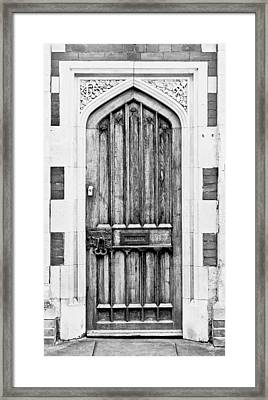 Wooden Door Framed Print