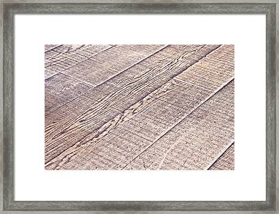 Wooden Floor Framed Print by Tom Gowanlock