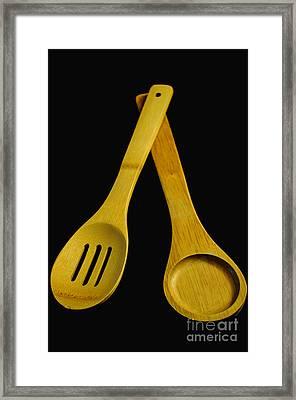 Wooden Spoons Framed Print by Tikvah's Hope