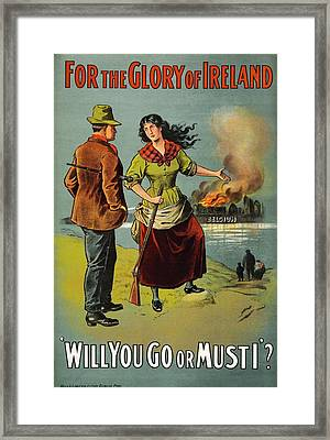 World War I Recruitment Poster Framed Print by Library Of Congress