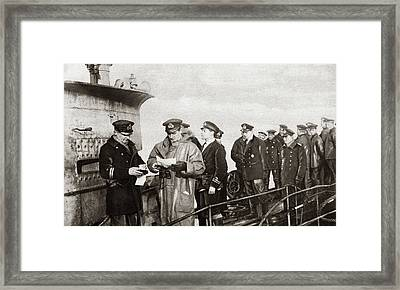 World War I Surrender Framed Print