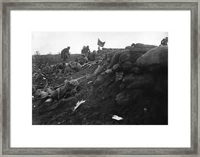 World War I Trench, C1916 Framed Print
