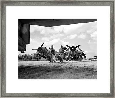 World War II: Okinawa Framed Print