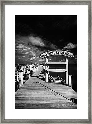 World Wide Sportsman Bayside Marina Islamorada Florida Keys Usa Framed Print by Joe Fox