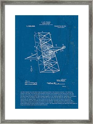 Wright Brothers Flying Machine Patent Framed Print by Marlene Watson