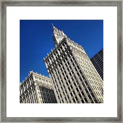 Wrigley Building- Chicago Framed Print by Mike Maher