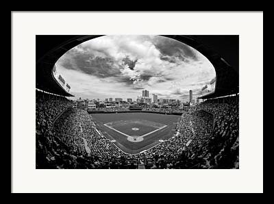 People Ballpark Framed Prints