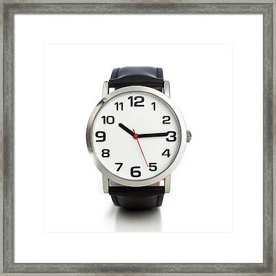Wristwatch Framed Print by Science Photo Library
