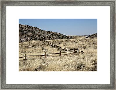 Wyoming Landscape Framed Print by Frank Romeo