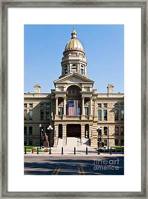 Wyoming State Capital Framed Print