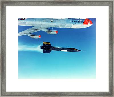 X-15 Launch From A Boeing B-52 Framed Print