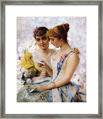 The Love Letter Framed Print by Federico Andreotti