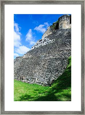 Xunantunich Belize Mayan Temple Framed Print by Brandon Bourdages