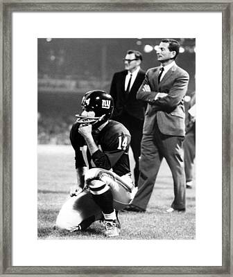 Y.a. Tittle Framed Print by Retro Images Archive
