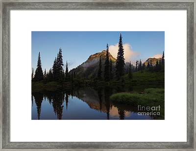 Yakima Peak Reflections Framed Print by Mike  Dawson