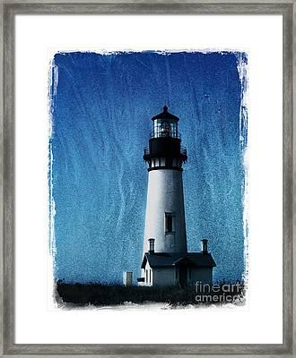 Yaquina Head Lighthouse Framed Print by Elena Nosyreva