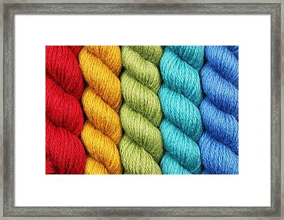 Yarn With A Twist Framed Print