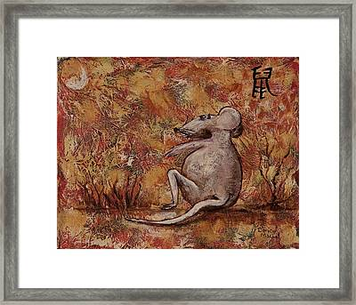Year Of The Rat Framed Print by Darice Machel McGuire
