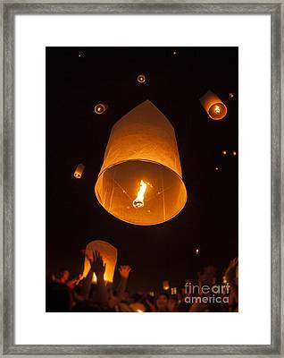 Yeepeng Festival  Framed Print by Anek Suwannaphoom