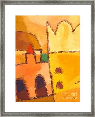 Yellow Impression Framed Print by Lutz Baar