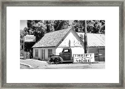 Yermo Thrift N More Framed Print by Patricia Januszkiewicz