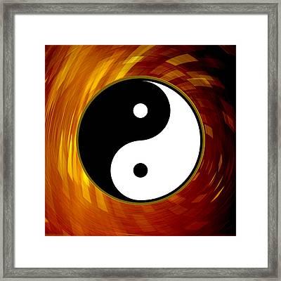 Yin And Yang Framed Print by Daryl Macintyre