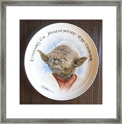 Yoda Framed Print by Guillaume Bruno