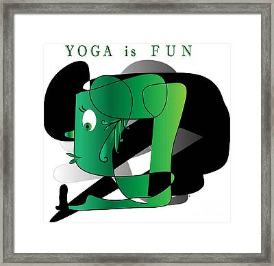 Framed Print featuring the digital art Yoga by Iris Gelbart