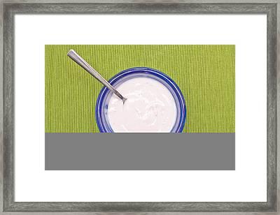 Yogurt Framed Print